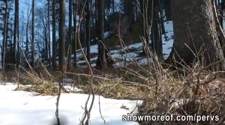 Horny boys fucking in a wood