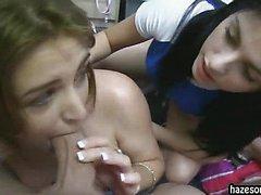 Sorority gal are hazed by older girls