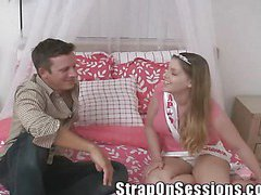 Come and see the Strap on princess Peg Brandon. The Princess break him in right
